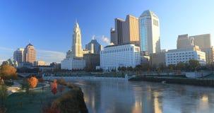 哥伦布,俄亥俄地平线在一美好的天4K 影视素材