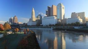 哥伦布,俄亥俄地平线4K的timelapse场面 股票视频