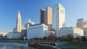 哥伦布,俄亥俄的Timelapse场面市中心4K 影视素材