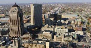 哥伦布,俄亥俄4K鸟瞰图  股票录像