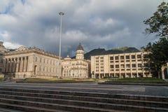 哥伦比亚国会大厦首都在波哥大,克罗姆大厦  图库摄影