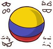 哥伦比亚国家球 皇族释放例证