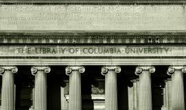 哥伦比亚图书馆大学 免版税库存照片