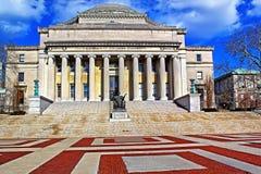 哥伦比亚大学在蓝天的纽约 免版税库存照片