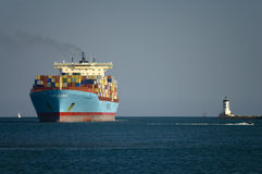 哥伦比亚容器maersk船 免版税库存照片