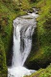 哥伦比亚峡谷瀑布俄勒冈小瀑布 免版税库存照片