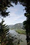 哥伦比亚峡谷西北俄勒冈太平洋河 免版税库存图片
