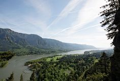 哥伦比亚峡谷西北俄勒冈太平洋河 免版税库存照片