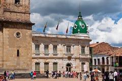 哥伦比亚房子市长zipaquira 免版税库存照片