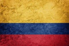 哥伦比亚标志grunge 与难看的东西纹理的哥伦比亚的旗子 图库摄影