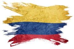 哥伦比亚标志grunge 与难看的东西纹理的哥伦比亚的旗子 brusher 库存例证