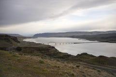 哥伦比亚河峡谷华盛顿州有利桥梁I-90 图库摄影