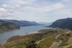哥伦比亚河峡谷 免版税库存图片