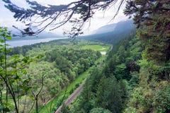 哥伦比亚河峡谷 库存照片