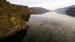 哥伦比亚河峡谷Horsethief小山 免版税库存图片