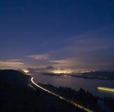 哥伦比亚河日出 免版税库存照片
