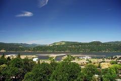 哥伦比亚河视图 免版税库存照片