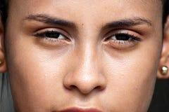 哥伦比亚的十几岁的女孩面孔 免版税图库摄影