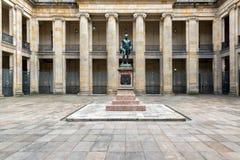 哥伦比亚的国会庭院视图 免版税图库摄影