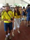 哥伦比亚的夫妇 库存图片