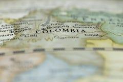 哥伦比亚的宏指令 免版税图库摄影