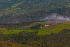 哥伦比亚的山的风景 库存照片