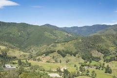 哥伦比亚的山美好的风景  库存图片