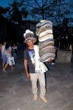 哥伦比亚的帽子推销员 库存照片