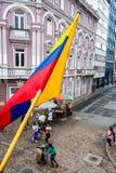 哥伦比亚的旗子街角 免版税图库摄影