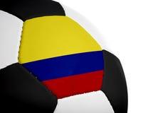 哥伦比亚的旗标橄榄球 免版税图库摄影