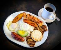 哥伦比亚的早餐 免版税库存照片