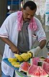 哥伦比亚的果子卖主 库存照片
