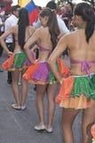 哥伦比亚的民间舞蹈组 库存图片