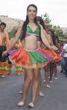 哥伦比亚的民间舞蹈组 免版税库存照片