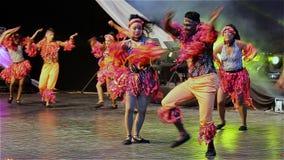 哥伦比亚的舞蹈 股票视频