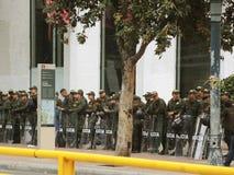 哥伦比亚的警察 免版税库存图片