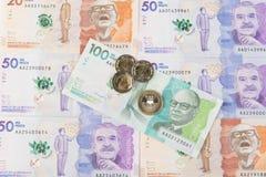 哥伦比亚的货币 库存照片