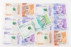 哥伦比亚的货币 图库摄影