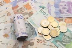 哥伦比亚的货币 免版税库存照片