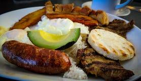 哥伦比亚膳食 免版税库存图片