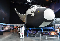 哥伦比亚航天飞机模型 库存照片