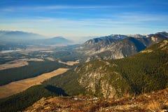 哥伦比亚谷不列颠哥伦比亚省在秋天秋天 库存照片