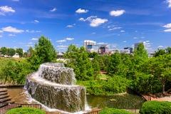 哥伦比亚,南卡罗来纳喷泉 免版税图库摄影
