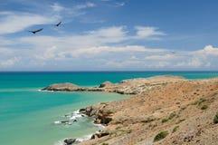 哥伦比亚,在La Guajira的Pilon de azucar海滩 免版税库存图片
