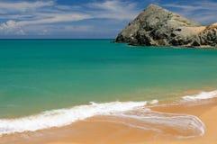 哥伦比亚,在La Guajira的Pilon de azucar海滩 图库摄影