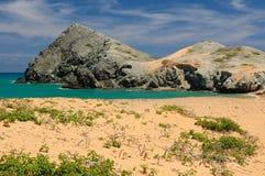 哥伦比亚,在La Guajira的Pilon de azucar海滩 库存照片