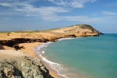 哥伦比亚,在La Guajira的Pilon de azucar海滩 免版税库存照片