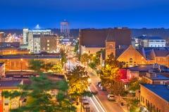 哥伦比亚,密苏里,美国街市都市风景 免版税库存图片