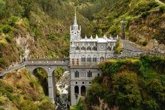 哥伦比亚, Las Lajas的维京的圣所 免版税库存照片