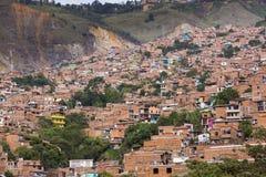 哥伦比亚-麦德林,安蒂奥基亚省-城市的地平线 免版税库存图片